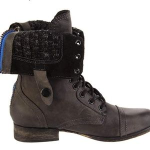 Steve Madden Women's Cablee Leather Combat Boot